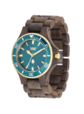 WeWood Date MB Choco Rough Emerald_