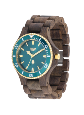 WeWood Date MB Choco Rough Emerald