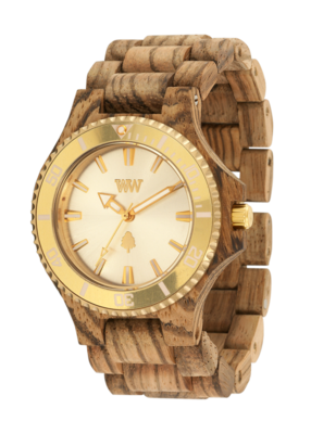 WeWood Date MB Zebrano Rough Gold