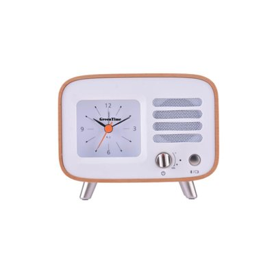 GreenTime Music Clock Wood